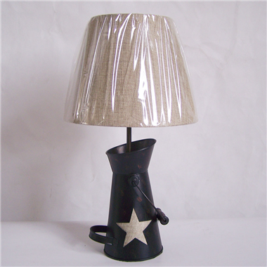 TRF100002 Teapot base with cloth lampshade table lamp star