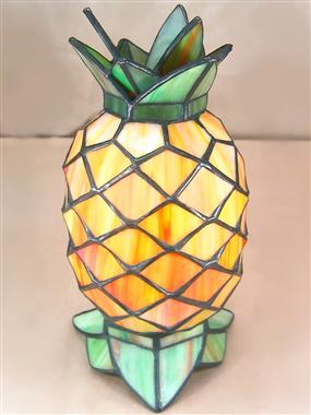 Pineapple table lamp tiffany ananas lights quaint lighting