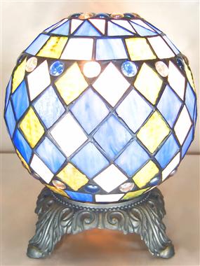Peculiar colorful sphere  table lamp quaint ball tiffany lighting