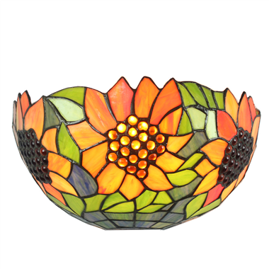 WL120023 12 inch sunny flower tiffany wall sconce wall light  stained glass  wall lamp