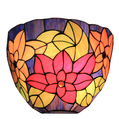 12 inch Tiffany style stained glass wall lamp WL120024