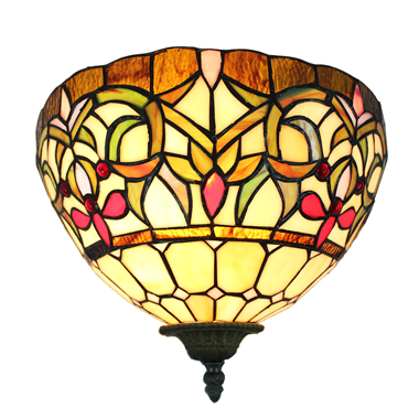 WL120028 12 inchTiffany wall sconce wall light  stained glass  wall lamp from China jiufa