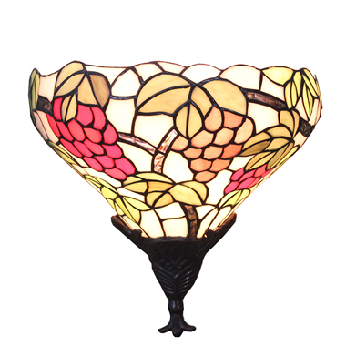 WL120029 Tiffany wall sconce 12 inch Grape wall light  stained glass art wall lighting from China Ji