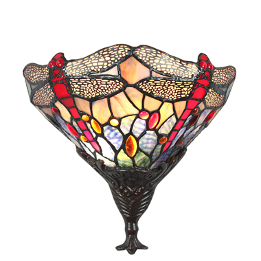 WL120030 12 inch dragonfly Tiffany wall sconce wall light  stained glass wall lighting