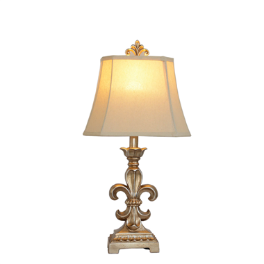TRF120003-fleur de lis table lamp cloth lighting from Jiufa lighting