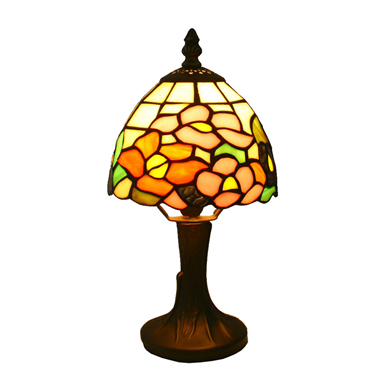 TL060017 6 inch  mini flower tiffany talbe lamp gift for child tiffany table lights