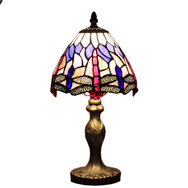 TL070003 7 inch dragonfly tiffany lamp table lighting