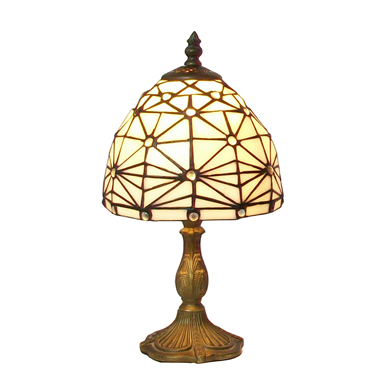 TL070011 7 inch jeweled tiffany table lamp A Tiffany mesa da lâmpada