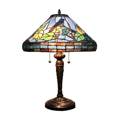 TL160049 16 inch two lights bird tiffany table lamp table lights from Jiufa tiffany factory
