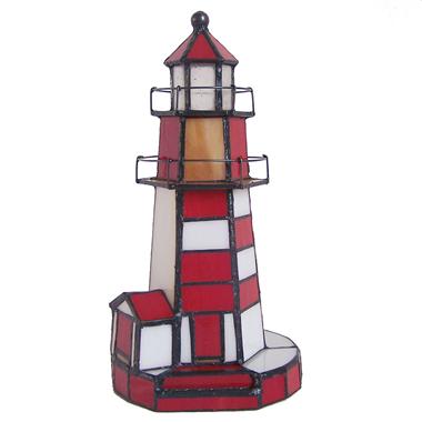 TLC00003-lighthouse tiffany lamp  accent lighting