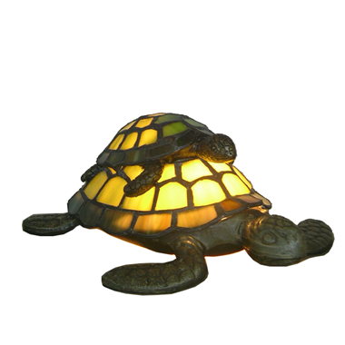 TLC00004-child and mother turtle accent lamp tiffany lamp