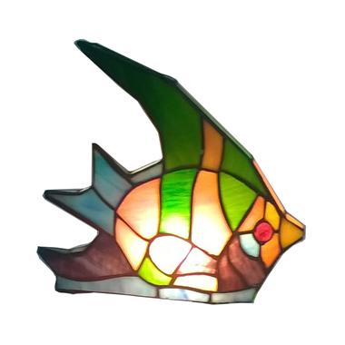 TLC00006-fish accent lamp tiffany desktop  decoration lighting