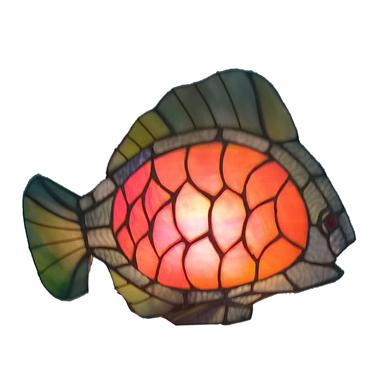 TLC00007-fish accent lamp tiffany table decoration light
