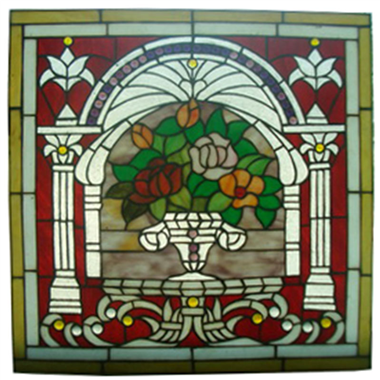 GP00012 tiffany glass panel flower stained glass window panel home decoration