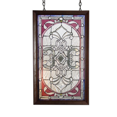 GP0017 Tiffany Style stained glass Clear Beveled window panel