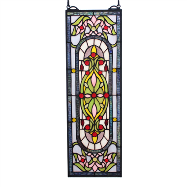 GP0019 Tiffany Style  stained glass window panel