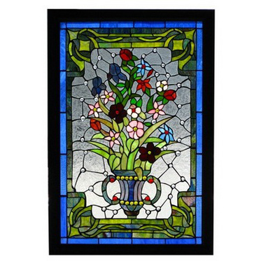 GP0020 tiffany glass panel flower stained glass window panel home decoration