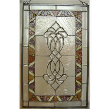 GP00025 Tiffany Style  stained glass window panel