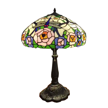TL160059 16 inch tiffany table lamp table lights Rose and dragonfly lamp