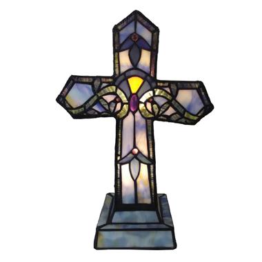 TLC00042-tiffany Christ  cross accent table lamp tiffany table lighting