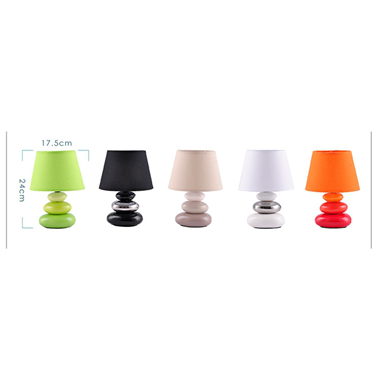 TRF070003-ceramic pebble table lamp Ceramic pebble table lamp with fabric lampshade modern lighting