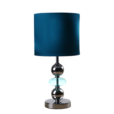 TLF080001 blue color Contemporary Stacked Ball Table Lamp metal base Linen Shade home decor novelty