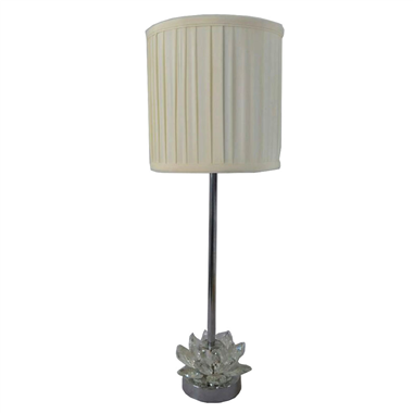 TRF080002 lotus table lamp with fabric lampshade crystal lamp base modern lighting fixture