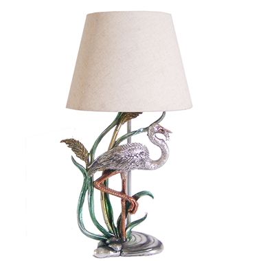 TRF110001  11 inch Waterfowl base modern fabric table lamp cloth lighting