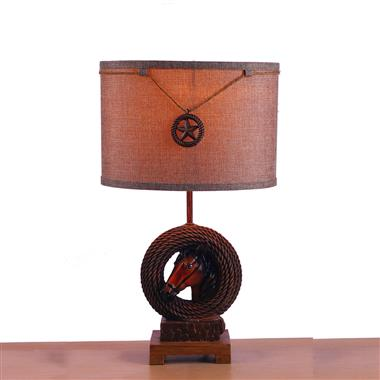 TRF110003  11 inch Rope hose base modern fabric table lamp cloth lighting