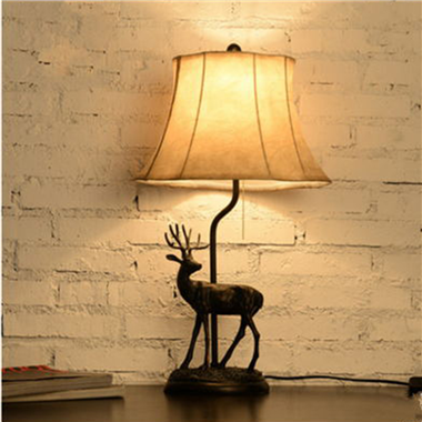 TRF120007 12 inch  Deer table lamp fabric table lamp modern lights  home decoration