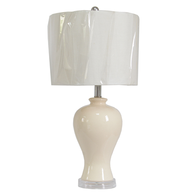 TRF120006 12 inch Fabric cloth lamp ceramic lamp base modern lamp