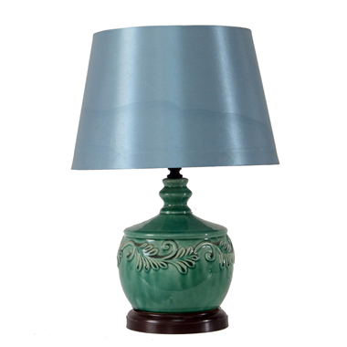 TRF120009 12 inch Fabric  lamp ceramic base modern lamp