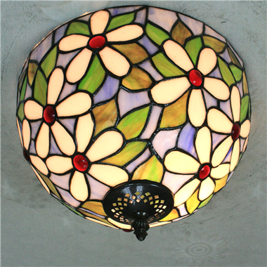 CE120003 12 inch Tiffany Style ceiling lamp Tiffany Bedroom Ceiling Light Flush Mount Ceiling Lighti