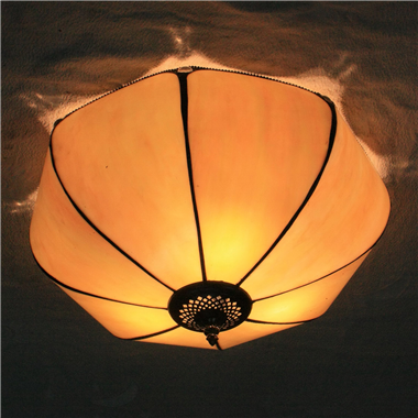 CE120004 12 inch Tiffany Style Bake bend class ceiling lamp Tiffany Bedroom Ceiling Light Flush Moun