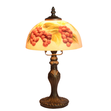 TRH080011 8 inch Reverse Hand Painted Lamp bumper harvest Grape glass  table lamp