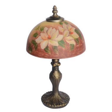 TRH080015 8 inch Reverse Hand Painted Lamp flower Grape glass  table lamp