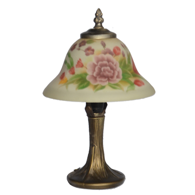 TRH080026 8 inch Reverse Hand Painted Lamp flower bell lampshade Grape glass  table