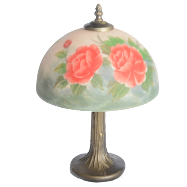 TRH100007 10 inch Reverse Hand Painted Lamp flower Grape glass table lamp factory