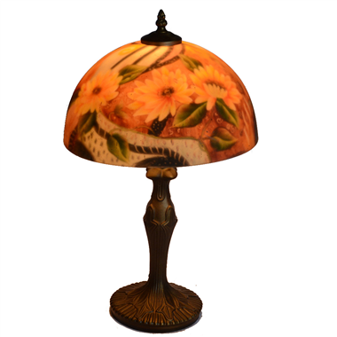 TRH120002 12 inch Reverse Hand Painted Lamp flower Grape glass table lamp f