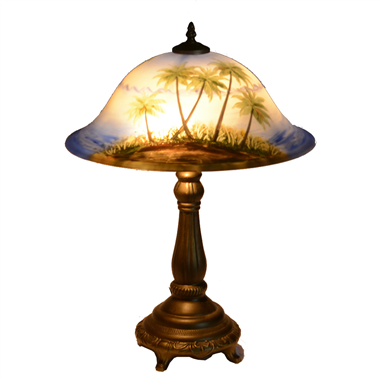 TRH160003 Reverse Hand-Painted Glass Table Lamp