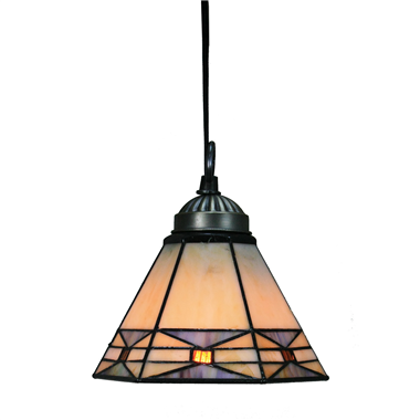 PL070001 7 inch Tiffany Style Stained Glass Hanging Lamp Ceiling Fixture