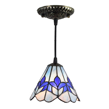 PL070003 7 inch Mini Pendant Light Antique Bronze and Art Glass Shade cute ceiling lighting
