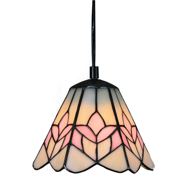 PL070004 7 inch Tiffany Style Stained Glass Hanging Lamp Ceiling Fixture