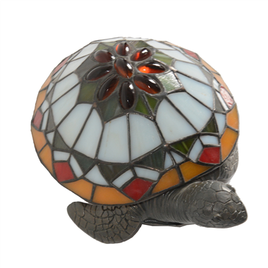 TLC00077 Gemstone colored glass turtle lamp Sea series Tiffany Style desk lamp  animal accent lamp