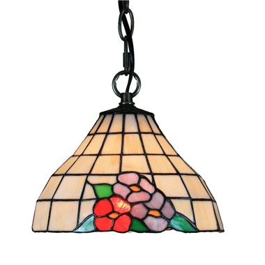 PL100002 10 inch Tiffany Style Flower 1-light Pendant Lamp