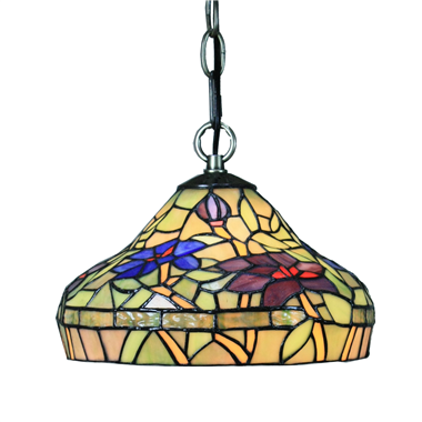 PL100003 10 inch Tiffany Style Flower 1-light Pendant Lamp with chain  hanging lamp