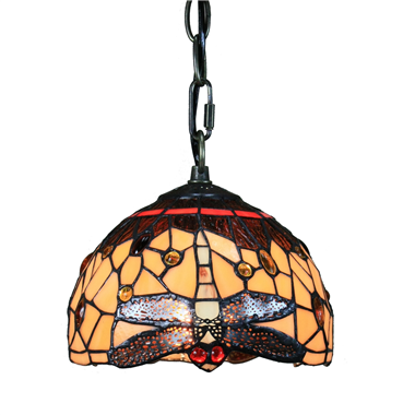 PL100006 10 inch Tiffany Style dragonfly 1-light Pendant Lamp with chain  hanging lamp
