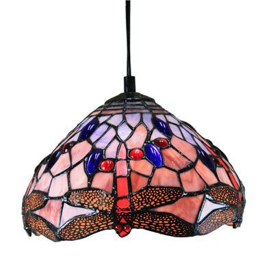 PL100009 10 inch Tiffany Style dragonfly 1-light Pendant Lamp with chain  hanging lamp