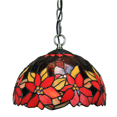PL100010 10 inch Tiffany Style flower 1-light Pendant Lamp with chain  hanging lamp