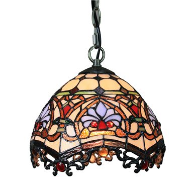 PL100013 10 inch Tiffany Style  1-light Pendant Lamp with chain  hanging lamp